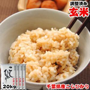 米 お米 20kg (5kgx4袋) 千葉県産 コシヒカリ 玄米 選別調整済み 熨斗紙 名入れ ギフト対応|kanekokome