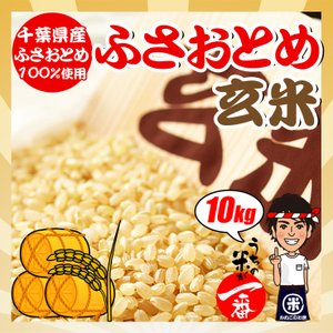 米 お米 10kg (5kgx2袋) 千葉県産 ふさおとめ 玄米 選別調整済み 熨斗紙 名入れ ギフト対応|kanekokome