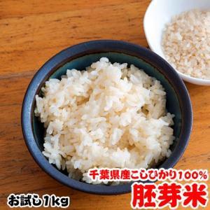 ポイント消化 送料無料 米 お米 1kg 千葉県産 胚芽米 コシヒカリ 日時指定不可 お試し 真空包装|kanekokome