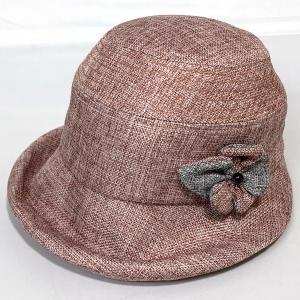 オブザー 花飾り エレガント エッジアップ ふくれつば 母の日 プレゼント ギフト 婦人 帽子 クロッシェ ブラウン系 Sサイズ kanekoya1958