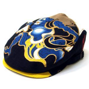 達磨 だるま 風神 日本製 職人の極み ハンチング 帽子 メンズギフト 父の日 誕生日 感謝の気持ち|kanekoya1958