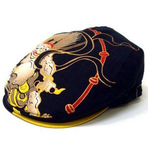 達磨 だるま 雷神 日本製 職人の極み ハンチング 帽子 メンズギフト 父の日 誕生日 感謝の気持ち|kanekoya1958