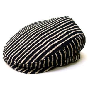 達磨 だるま 京都手捺染竹 黒系 日本製 職人の極み ハンチング 帽子 メンズギフト 父の日 誕生日 感謝の気持ち|kanekoya1958