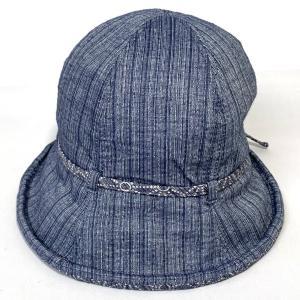 しじら織チューリップ 母の日 プレゼント ギフト 婦人 帽子 クロッシェ ブルー系 kanekoya1958