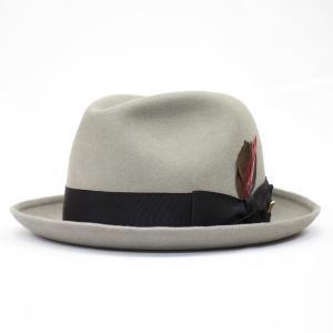 KNOX KNOXナカオレ オーストラリア製 紳士 高級帽子 小さいサイズ 帽子 中折 ナカオレ ハット ファーフェルト プレゼント グレー系 父の日ギフト|kanekoya1958