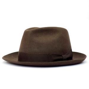 HABIG HANABICナカオレ ドイツ製 紳士 高級帽子 帽子 中折 ナカオレ ハット ファーフェルト プレゼント ブラウン系 父の日ギフト|kanekoya1958