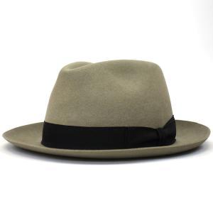 HABIG HANABICナカオレ ドイツ製 紳士 高級帽子 帽子 中折 ナカオレ ハット ファーフェルト プレゼント グレー系 父の日ギフト|kanekoya1958
