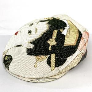 達磨 だるま 京娘 袖 ゴブランハンチング 日本製 鳥打ち帽 紳士 職人の極み 帽子 メンズギフト 父の日 誕生日 感謝の気持ち|kanekoya1958