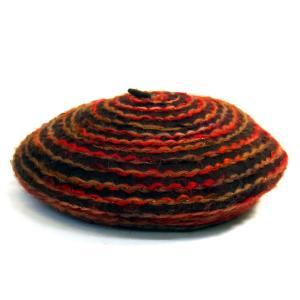 Complit By Marisa イタリア製 インポート 婦人帽 ベレー帽 ブラウン系|kanekoya1958