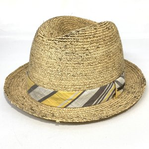 MOSSANT モサント中折れ ハット 帽子 ラフィア 涼しい 紳士 HAT キャメル系|kanekoya1958