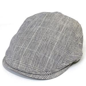 DAKS ダックスハンチング グレンチェック 日本製 紳士 軽量 綿 帽子 カジュアル  プレゼント 父の日ギフト グレー系|kanekoya1958