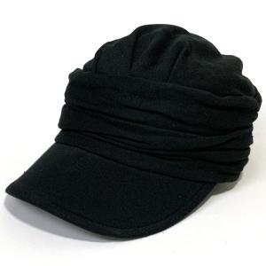 スウェット ワークキャップ ギャザー 帽子 男女兼用 手洗い可能 ギフト プレゼント ブラック|kanekoya1958