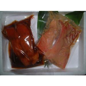 送料無料 伊豆直送金目鯛煮付2切+金目鯛味噌漬3切