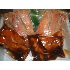 送料無料 伊豆直送金目鯛煮付4切+金目鯛味噌漬6切