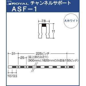 チャンネルサポート 棚柱 ロイヤル Aホワイト塗装 ASF-1- 1820 サイズ 1820mm 7...