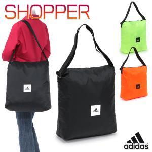 アディダス ショルダーバッグ エコバッグ ショッピングバッグ 買い物バッグ 軽量 トートバッグ 斜め...