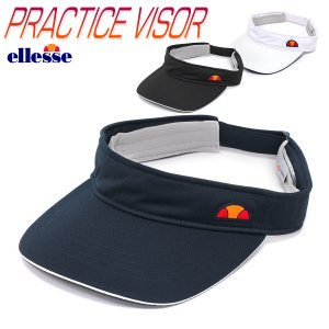エレッセ サンバイザー UVカット 紫外線防止 バイザー ランニング ジョギング ウォーキング テニス メンズ レディース 男女兼用/PRACTICE VISOR EAC10101|kanerin