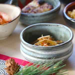 グレー白渦抹茶型小付 8.8×4.8(cm)日本製 美濃焼 業務用食器 使いやすい小付け 使いやすい小鉢 本格和食器 小鉢  kaneroku