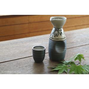 砂鉄釉祥瑞2合徳利 7×17(cm)約350cc 日本製 美濃焼 業務用食器 おうち居酒屋 酒器|kaneroku