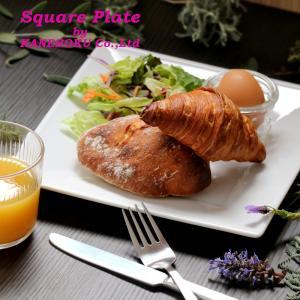 スクエアーホワイト23cm皿 23×23×2.3(cm) 日本製 美濃焼 業務用食器 白の器 白磁 白磁のプレート デザートプレート  kaneroku