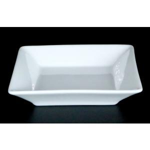 スクエアーホワイト10.5深皿 10.5×10.5×2.1(cm) 日本製 美濃焼 業務用食器 白磁 白磁の皿 白の皿 取皿 小皿  kaneroku
