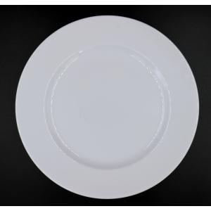 プラージュ25.5cmリムプレート 25.6×2.7(cm) 日本製 美濃焼 業務用食器 白磁 白磁のプレート 特別な日のお皿 リム皿|kaneroku