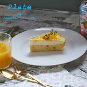 プラージュ23cmリムプレート 23×2.3(cm) 日本製 美濃焼 業務用食器 白磁 白磁のプレート おうちカフェ リム皿|kaneroku