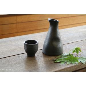 いぶし黒釉大徳利 9.5×15.5(cm) 約420cc 日本製 美濃焼 業務用食器 おうち居酒屋 酒器|kaneroku