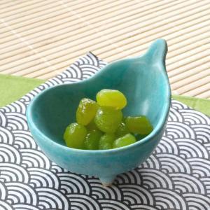 三つ足ひさご小付マットブルー 8.2×6.3×4.9(cm) 日本製 美濃焼 業務用食器 おうち居酒屋|kaneroku