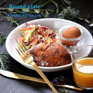 バニラプレート22 22×3.9(cm) 日本製 美濃焼 業務用食器 おうちカフェ カフェボウル 軽量食器 使いやすい食器|kaneroku