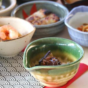 織部流し片口小付 9.8×9.2×4.8(cm)日本製 美濃焼 業務用食器 使いやすい小付 使いやすい食器 本格和食器 おうち居酒屋 kaneroku