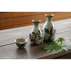 雪見竹1合徳利 7×12(cm) 約180cc 日本製 美濃焼 業務用食器 おうち居酒屋 酒器 徳利 おしゃれ|kaneroku