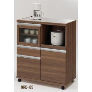 【日本製】【YHC配送対応商品】キッチンカウンターHIGH CON UNTER (MRS-85ホワイトウッド/MRD-85リアルウォールナット)W848×D445×H983|kanesen-kagu