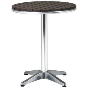 【屋外使用可能】ガーデンアルミテーブル(AL-P60T) Ф600×H725【送料無料】 |kanesen-kagu