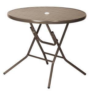 【屋外使用可能】ガーデンアルミテーブル( AL-A60RT)φ600×H725mm 天板:アルミ 粉体塗装 支柱:アルミ アルマイト(φ60mm)【送料無料】|kanesen-kagu