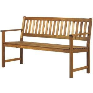 屋内用天然木アカシア ガーデンベンチ(AW-1550B)W1550×D600×H850(SH425)【送料無料】|kanesen-kagu