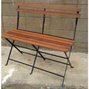 半屋外対応 天然木アカシア材 フォルディングベンチPRE-B91 ブラック/ホワイト W920×D450xH765(SH400)【送料無料】|kanesen-kagu