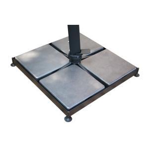 【日本製】ガーデンパラソルスタンドAGK-BS(パラソルスタンドのみ)  W910×D910×H385 加重ベース:鉄鋳物(210kg)【送料無料】|kanesen-kagu