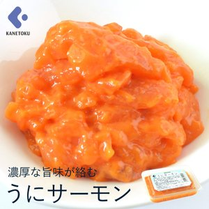 うにサーモン 300g  うに ウニ 雲丹 サーモン 酒の肴 業務用 大容量 珍味|kanetoku