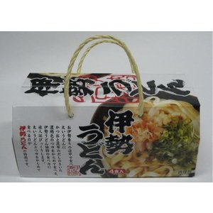 伊勢うどん 4人前(つゆ付 箱入) 伊勢名物 お土産 お取り寄せ kaneyasu