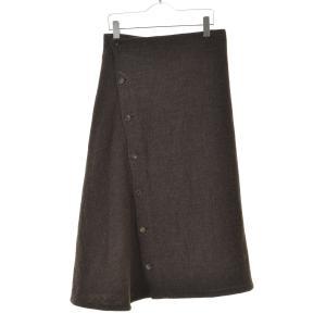 Y'S / ワイズ ウール混マキシボタン スカート|kanful