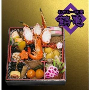 【受注生産】おせち一段重【鶴亀】|kani-honke