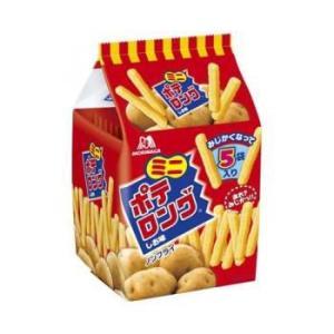 森永 ミニポテロング しお味90g(18g×5小袋)1箱10袋入|kani