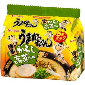 ハウス うまかっちゃん 博多 からし高菜風味 1箱5食入×6袋