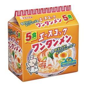 エースコック ワンタンメン 1箱5食入×6袋|kani