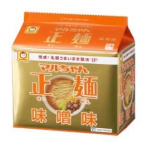 東洋水産 マルちゃん正麺 味噌味 1箱5食入×6袋|kani