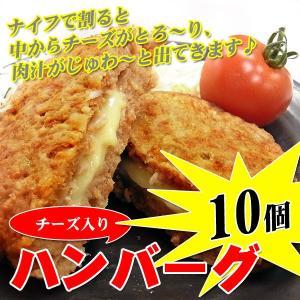 チーズインハンバーグ ハンバーグ 1kg(100g×10枚)|kani