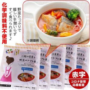 訳あり 化学調味料不使用 三陸青魚と野菜のトマト煮 5食 さばの切り身入り|kani