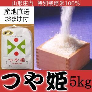 山形庄内米 特別栽培米 つや姫 100% 5kg 産地直送 おまけ付|kani
