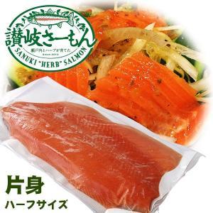 香川県産 讃岐さーもん 片身 1枚 不定貫 約500g〜600g 生鮭 フィーレ|kani